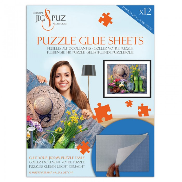 Jig-and-Puz-80007 Puzzle Glue Sheets for 2000 Pieces