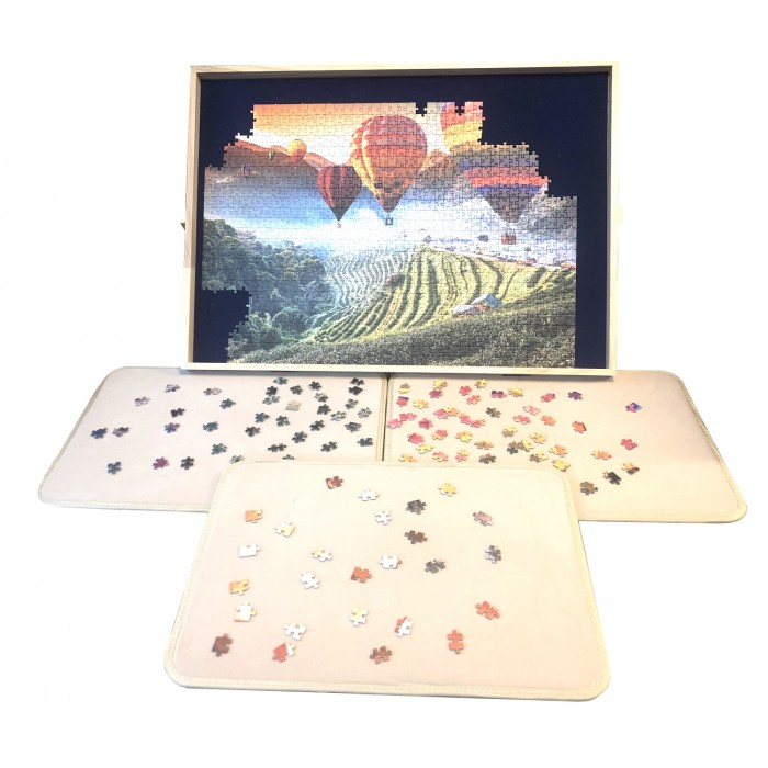 Jig-and-Puz-80018 Luxe Puzzle Table - 100 to 1500 Pieces + 3 Sorting Boards
