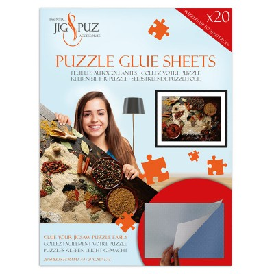 Jig-and-Puz - Puzzle Glue Sheets for 3000 Pieces
