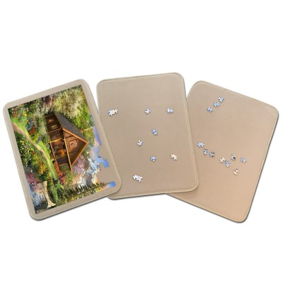 Jig-and-Puz -  3 Tabletts für Puzzle - 3 x 500 Teile