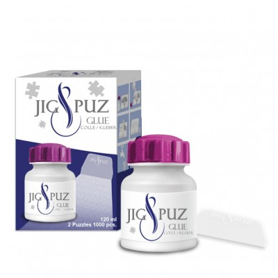 Jig-and-Puz - Glue 120 ml with a Spatula for 2 1000 Piece Puzzles